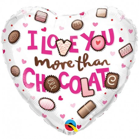 "Globos Foil 18"" ILY more Than Chocolate"