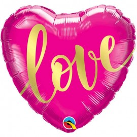 """Foil Corazon 18"""" (45Cm) Love Oro"""