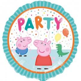 """Globos Foil 17"""" (43Cm) Peppa Pig Party"""