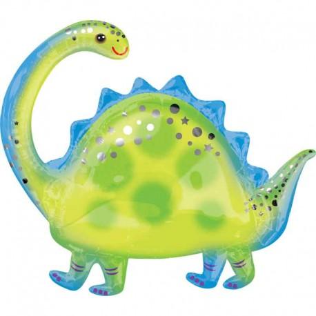 """Globos de Foil 32"""" x 27"""" Brontosaurus"""