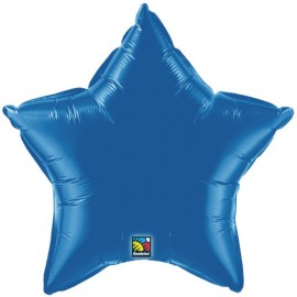 """Globos de foil Estrella de 9"""" Azul zafiro"""