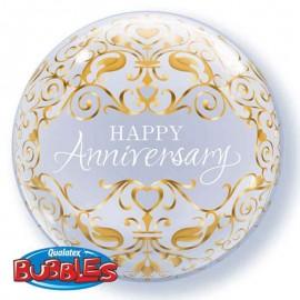 """Globos de 22"""" Bubbles Aniversario Clasico"""