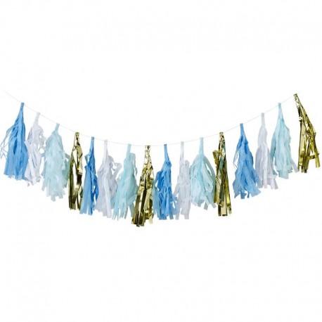 Tassel Azul Blanco Y Oro