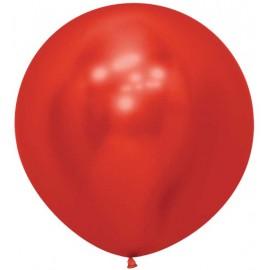 """Globos Látex de 24"""" (61Cm) Reflex Rojo"""