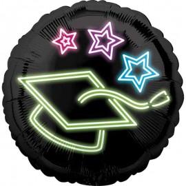"""Globos Foil 17"""" (43Cm) Graduado Neon"""