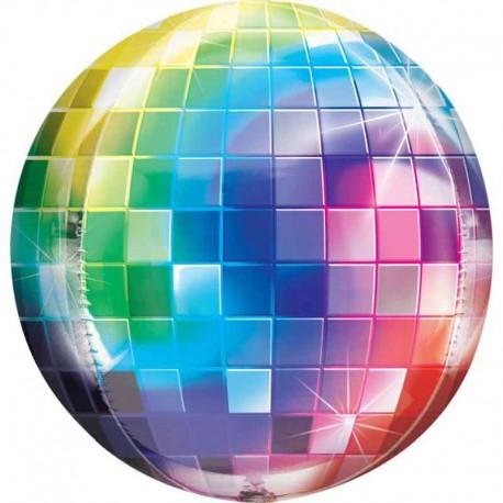 """Globos Foil 16"""" ORBZ Bola Disco"""