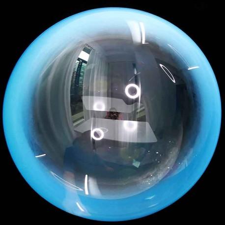 "Globos 18"" Bubble Transparente Donut Azul"