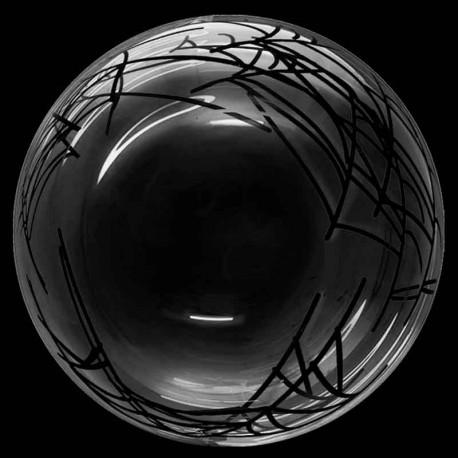 "Globos 18"" Bubble Transparente Telarañas"