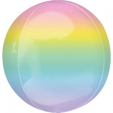 "Globos Foil 16"" ORBZ Ombre Pastel Multicolor"