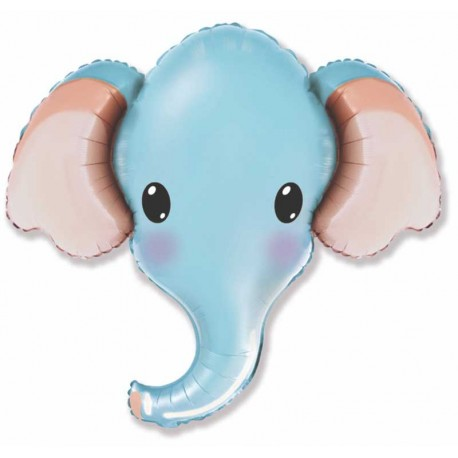 "Foil 39"" Cabeza De Elefante Azul"