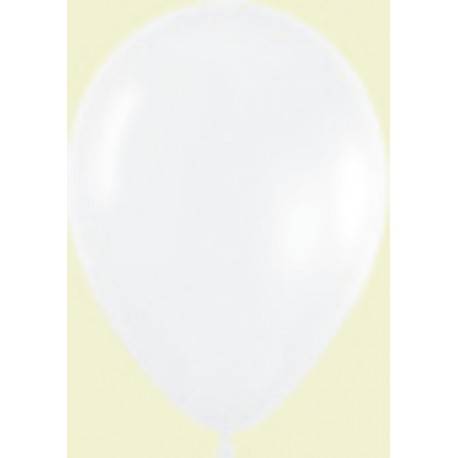 "GLOBOS 12"" FASHION SOLIDO BLANCO"