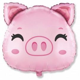 """Foil 8"""" Mini Cabeza de Cerdo"""