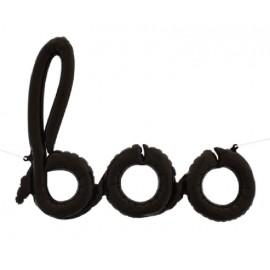 """Globos Foil de 42"""" (106Cm) Boo Negro"""