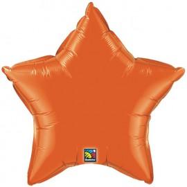 """Globos de foil Estrella de 20"""" Naranja qualatex"""