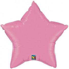 """Globos de foil Estrella de 20"""" Rosa qualatex"""