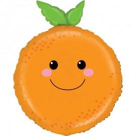 "Globos Foil 26"" (66Cm) Naranja Sonriente"