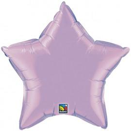 """Globos de foil Estrella de 20"""" Perlado Lavanda qualatex"""
