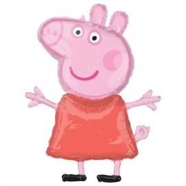 """Globos Foil supershape de 32"""" X 25"""" Peppa Pig"""