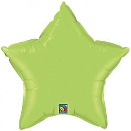 "Globos de foil Estrella de 20"" Verde lima qualatex"