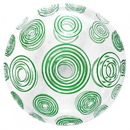 """Globos 20"""" Bubble Transparente Remolinos Verde"""