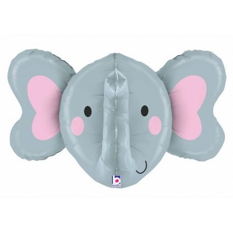"Globos Foil de 34"" (86Cm) Elefante 3D"