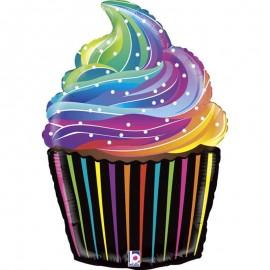 "Globos de Foil 27"" (69Cm) Cupcake Arcoiris"