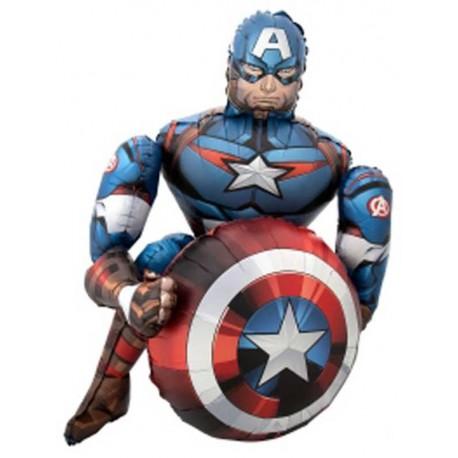 """Globos de foil de 39"""" Airwalker Capitán América"""