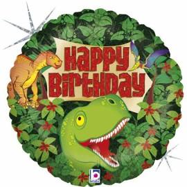"Globos foil 18"" Birthday Dinosaurio"