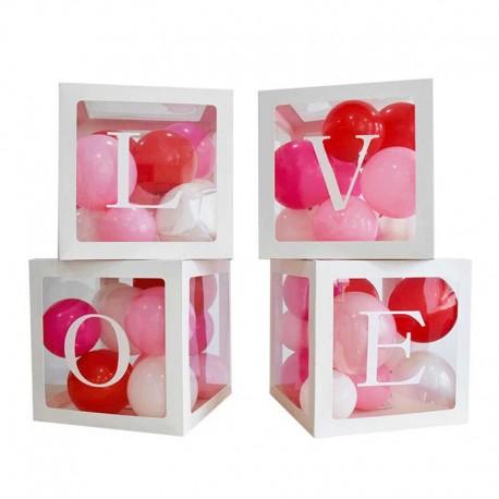 Cajas Cuadradas Transparentes LOVE