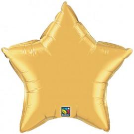 """Globos de foil Estrella de 36"""" Oro qualatex"""