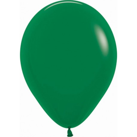 """Globos de 9"""" (22,8cm) Fashion solido Verde Selva Sempertex"""