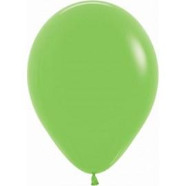 """Globos de 9"""" (22,8cm) Fashion solido Verde Lima Sempertex"""