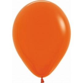 """Globos de 9"""" (22,8cm) Fashion solido Naranja Sempertex"""