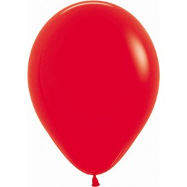 """Globos de 9"""" (22,8cm) Fashion solido Rojo Sempertex Bolsa 50"""