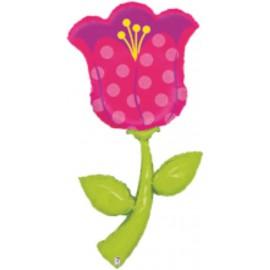 """Globos de foil Airwalker de 72"""" Flor tulipán"""