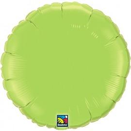 """Globos de foil Redondos de 18"""" Verde lima"""