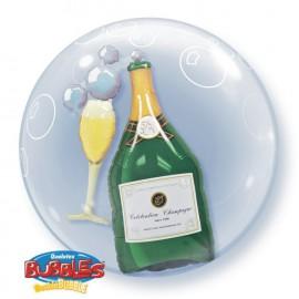 """Globos de foil de 24"""" Bubbles doble Champagne"""