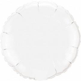"Globos de foil Redondos de 18"" Blanco"