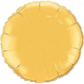 """Globos de foil Redondos 18"""" Oro"""