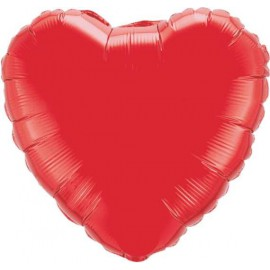 """Globos de foil Corazón 18"""" Rojo"""