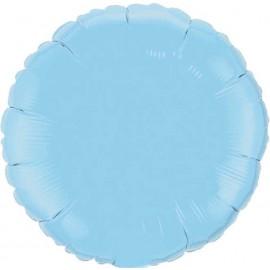 """Globos de foil Redondos de 10"""" Azul claro con palito"""