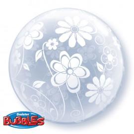 """Globos de foil de 20"""" Bubbles Floral"""