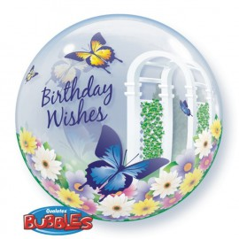 "Globos de foil de 22"" Bubbles Birthday Mariposas"