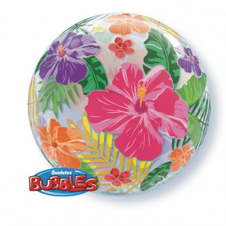 "GLOBOS FOIL 22"" BUBBLES JARDIN TROPICAL"