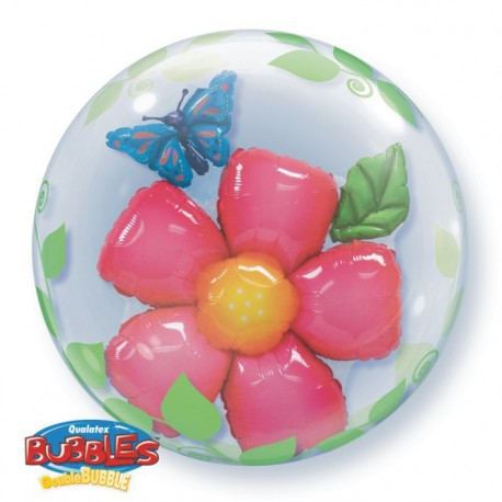 "GLOBOS FOIL 24"" BUBBLES DOBLE FLOR"