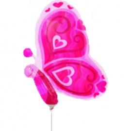 Globos de foil Mini Mariposas Rosa