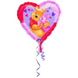 """Globos de foil de 18"""" Winnie Corazón"""