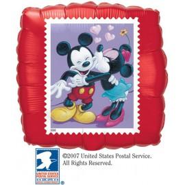 """Globos de foil de 18"""" Cuadrado Minnie besa Mickey"""