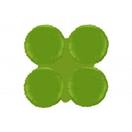Globos de foil grupo de 4 Redondos Verde