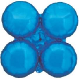 Globos de foil grupo de 4 Redondos Azul